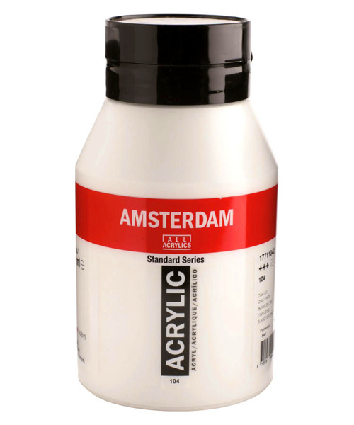 Farba akrylowa Amsterdam 1000 ml - 618 Permanent Green Light