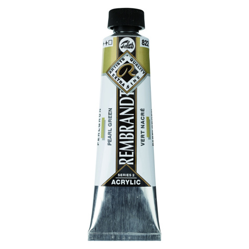 Farba akrylowa Rembrandt 40 ml - 614 Permanent Green Medium
