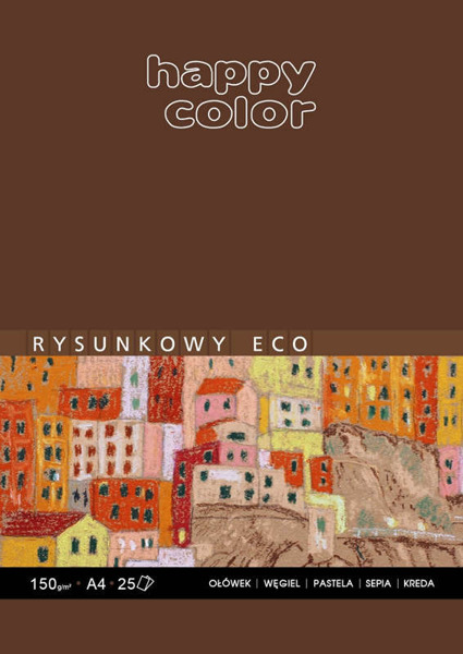 Blok rysunkowy ECO Happy Color - A3, 25 arkuszy, 150g,