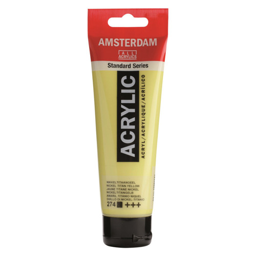 Farba akrylowa Amsterdam 120 ml - 274 Nickel Titanium Yellow