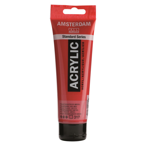 Farba akrylowa Amsterdam 120 ml - 317 Transparent Red Medium