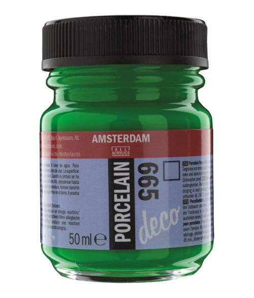 Farba do porcelany Amsterdam DECO 16 ml - 262 Gold Yellow Opaque
